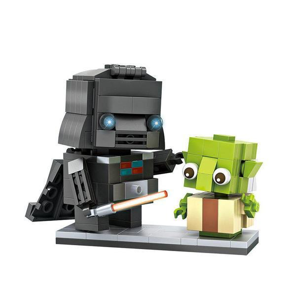 LOZ Brickheadz Darth Vader and Yoda