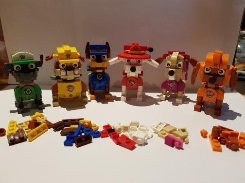 LOZ Cube Dudes Dogs Bundle x6