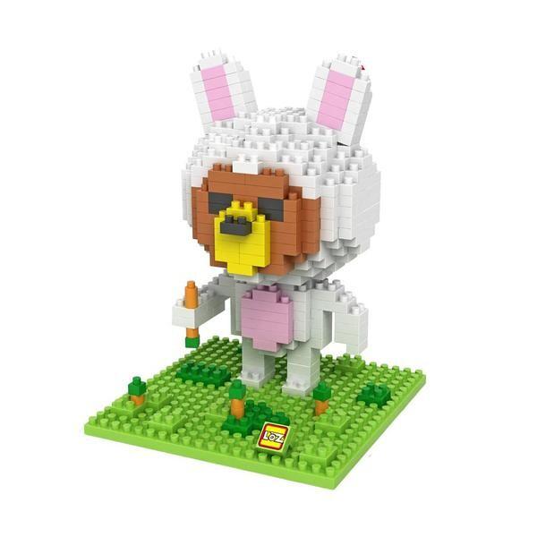 LOZ 9433 Brown Bear in Bunny Costume