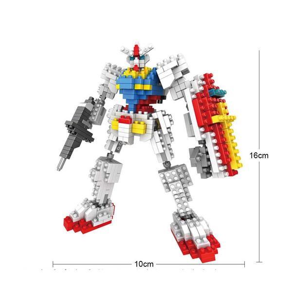 LOZ 9350 Transformers White Gundam