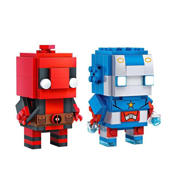LOZ Brickheadz Deadpool and Blue Men