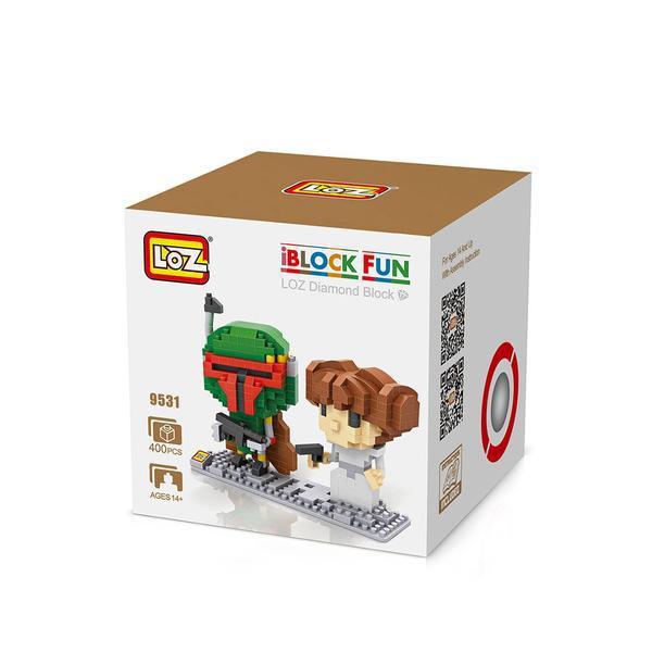 LOZ 9531 Star Wars Boba Fett and Leia