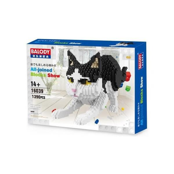 Balody 16039 White and Black Cat