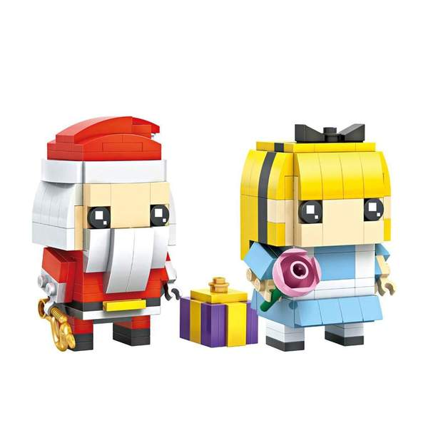 LOZ Brickheadz Santa and Alice