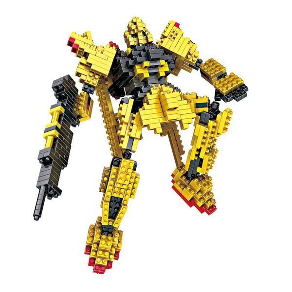 LOZ 9353 Transformers Yellow Gundam
