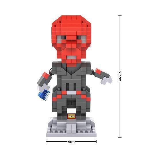 LOZ 9520 Superhero Red Skull
