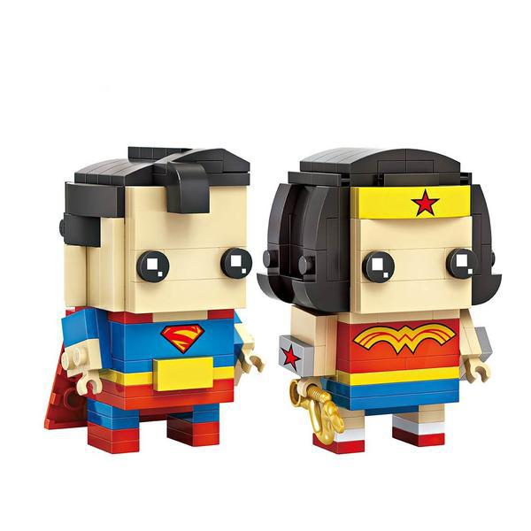 LOZ Brickheadz Superman & Wonder woman