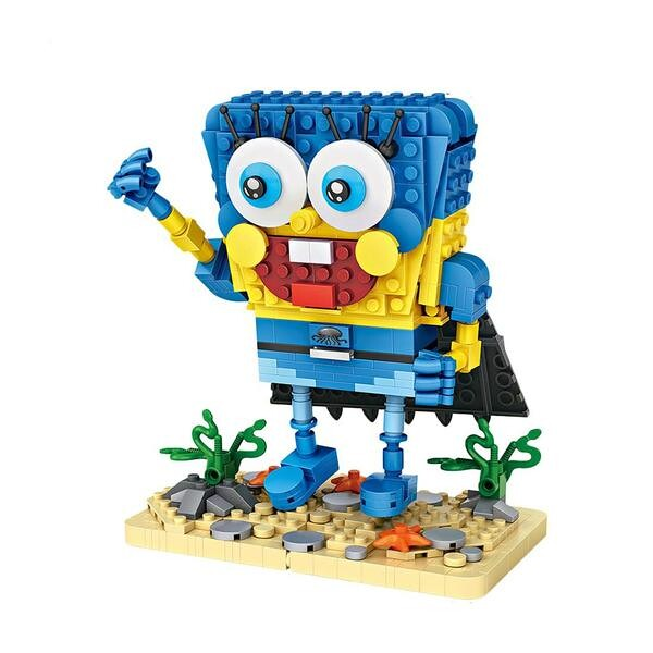 LOZ Spongebob Blue Hero