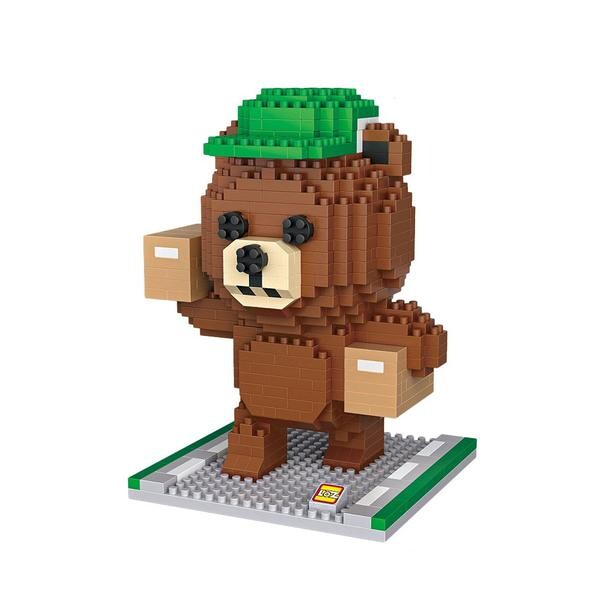 LOZ Brown Bear Package Courier