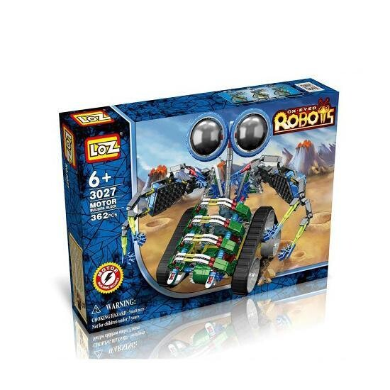 LOZ 3027 Eyed Robot Blue