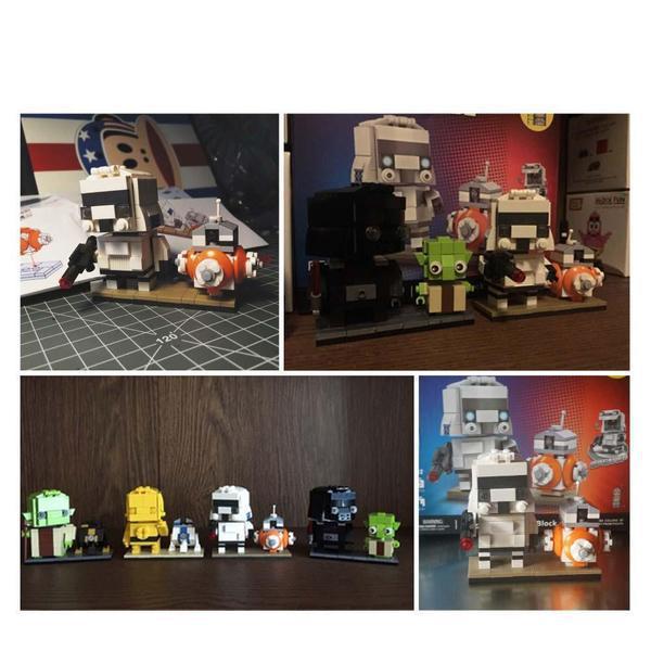 LOZ Brickheadz Stormtrooper and BB-8