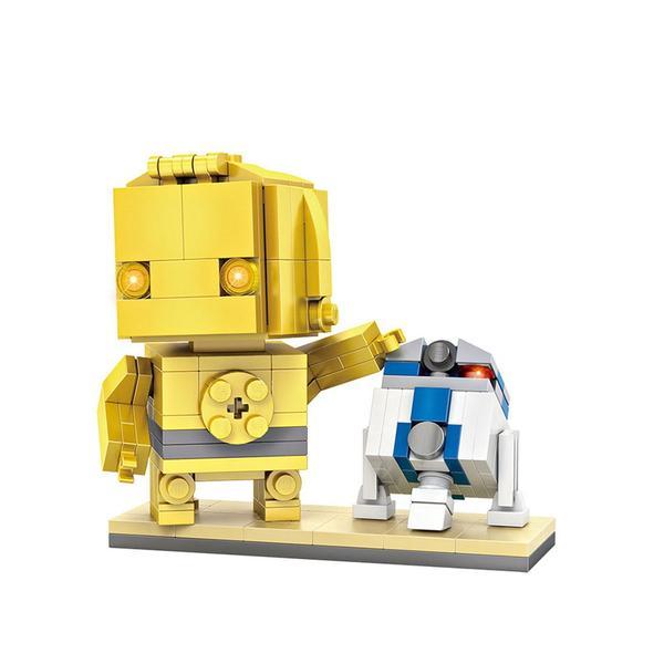 LOZ Brickheadz C3P-O and RD2D