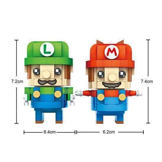 LOZ 1706 Brickheadz Super Mario and Luigi