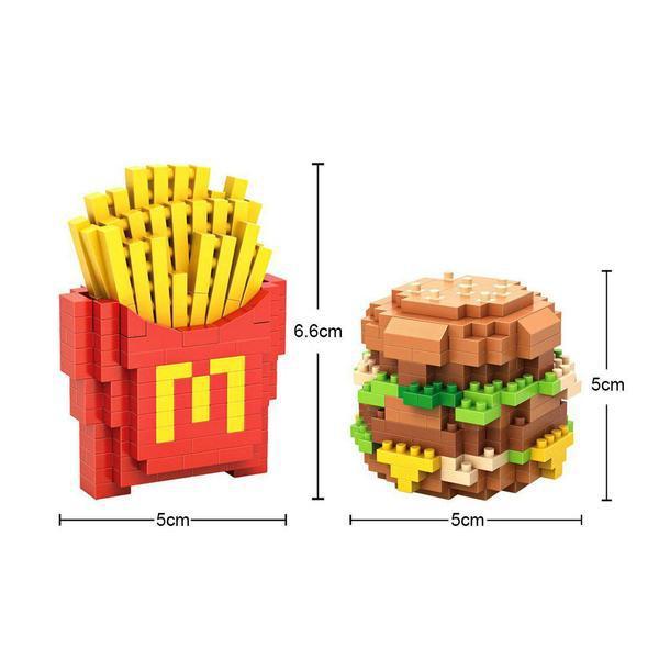 LOZ 9391 Fast Food Meal Set