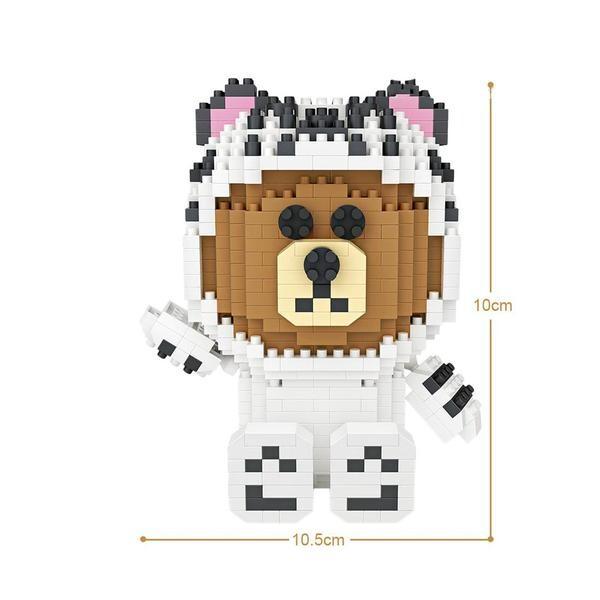 LOZ 9789 LINE Brown - White Tiger