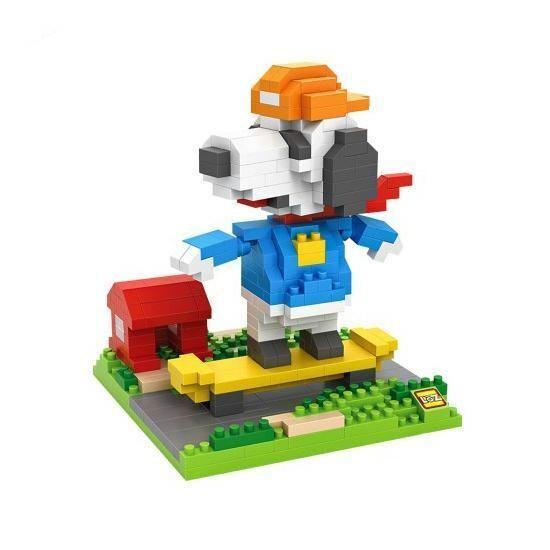 LOZ 9524 Snoopy Skateboarding