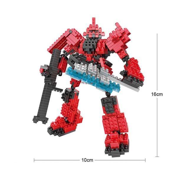 LOZ 9351 Transformers Red Gundam