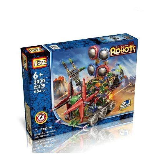 LOZ 3030 Big 4-Eyed Robot Bundle