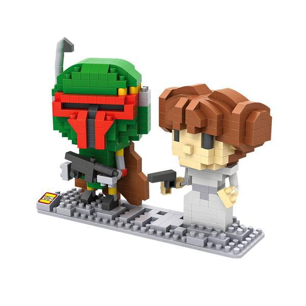 LOZ Star Wars Boba Fett and Leia