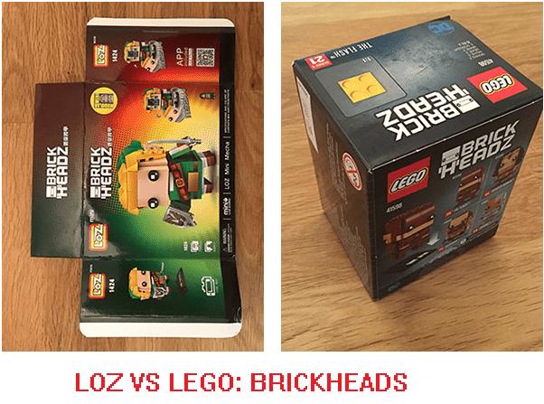 LOZ VS LEGO BRICKHEADS