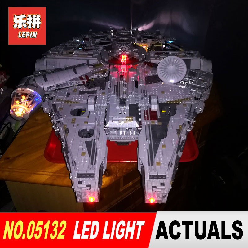 Luxury VersionLED Light Set For LEGO 75192 Millennium Falcon Compatible LEPIN 05132 (not include blocks set)Kits
