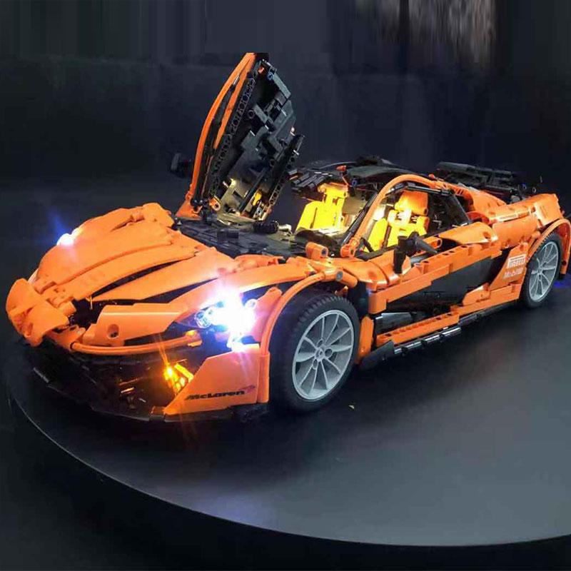 Luxury VersionLED Light Set For LEPIN 20087 McLaren P1 hypercar 1:8 and MOC-16915Kits