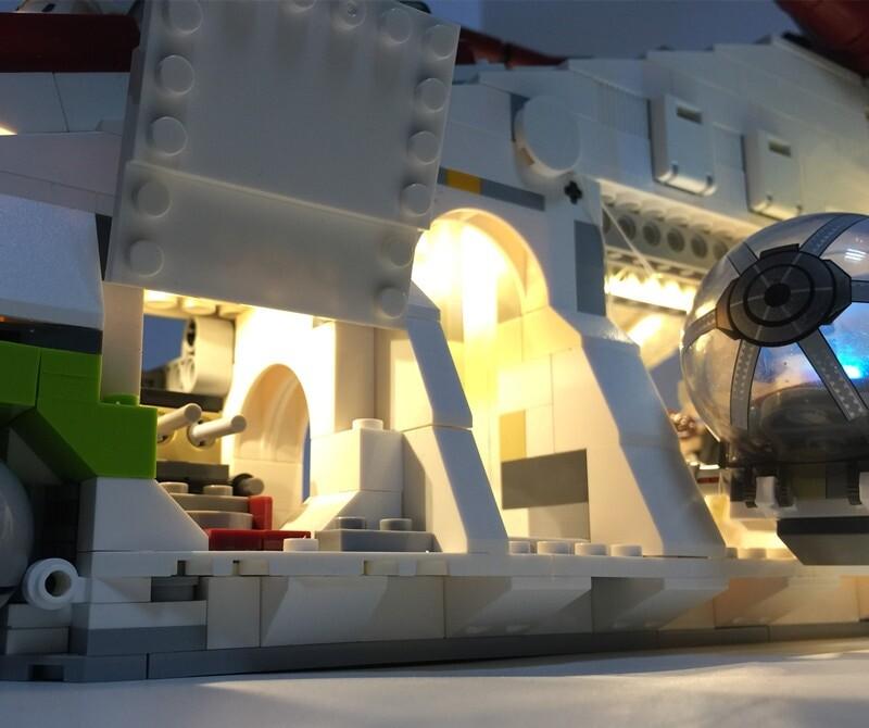 Basic Version LED Light Kit For LEGO 75021 and 05041 The Republic Gunship (Only Light Set)Kits