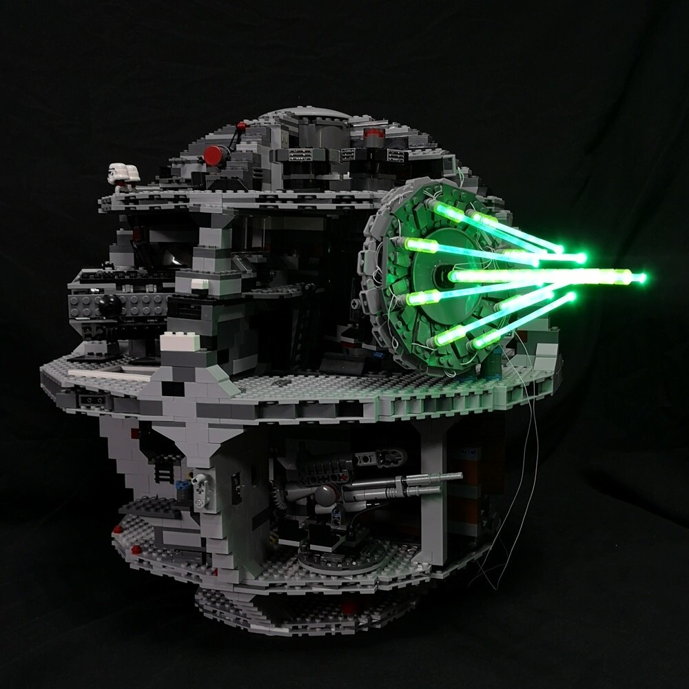 Basic Version LED Light Kit For LEGO 10143 75159 10188 Star Wars Death Star II Ultimate Weapon Laser cannon Compatible With LEPIN 05026 (Only Light Set)Kits