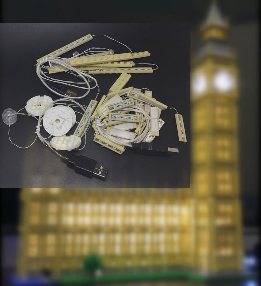 Basic Version LED Light Kit For LEGO 10253 /17005 City Creator Big Ben (Only Light Set)Kits