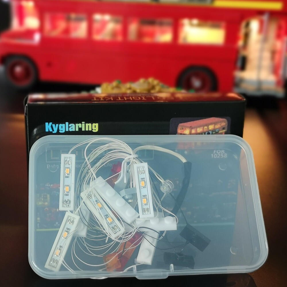 Basic Version LED Light Kit For LEGO 10258 London Bus Compatible With LEPIN 21045 (Only Light Set)Kits
