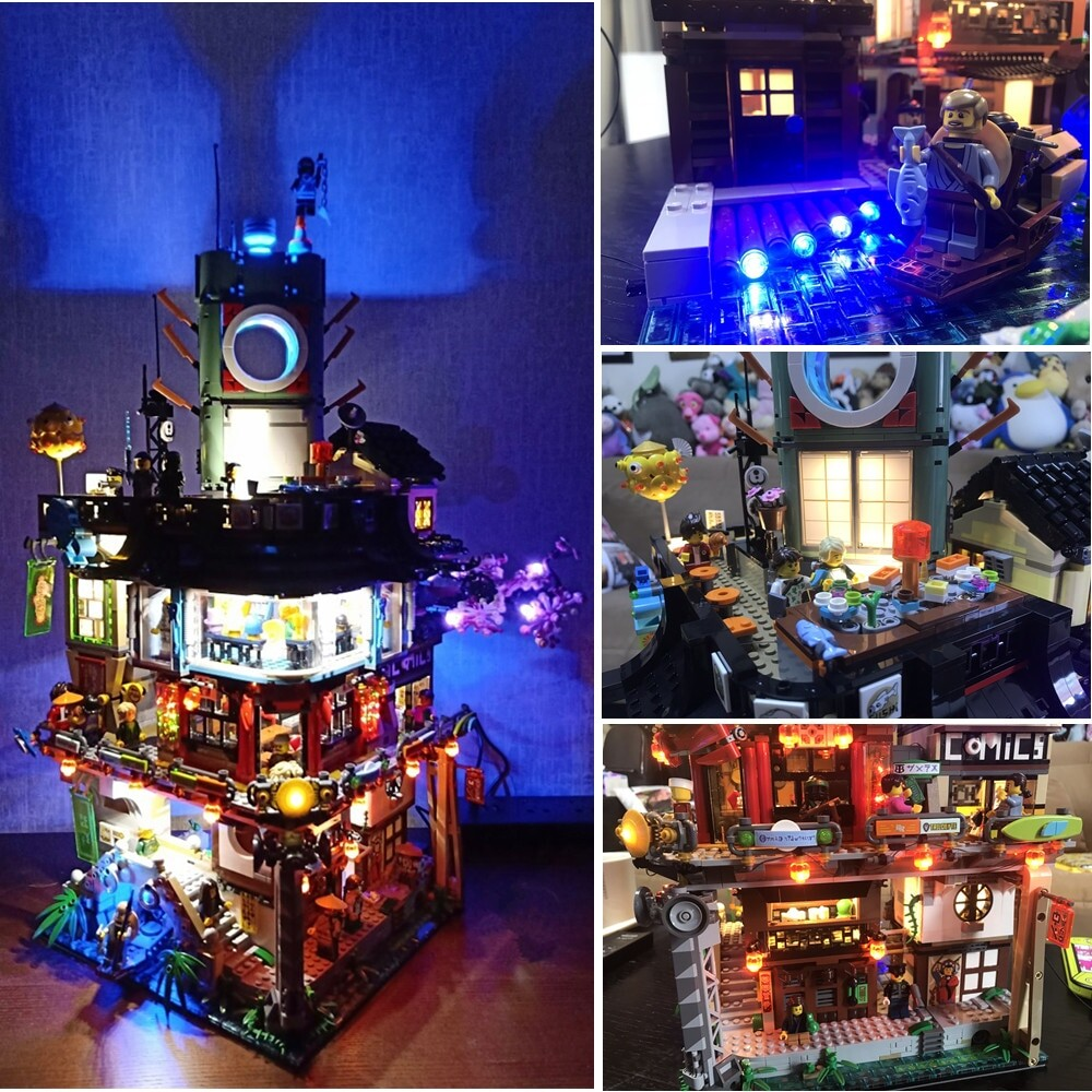Basic Version LED Light Kit For LEGO 70620 Ninjago City Masters of Spinjitzu Building (Only Light Set)Kits