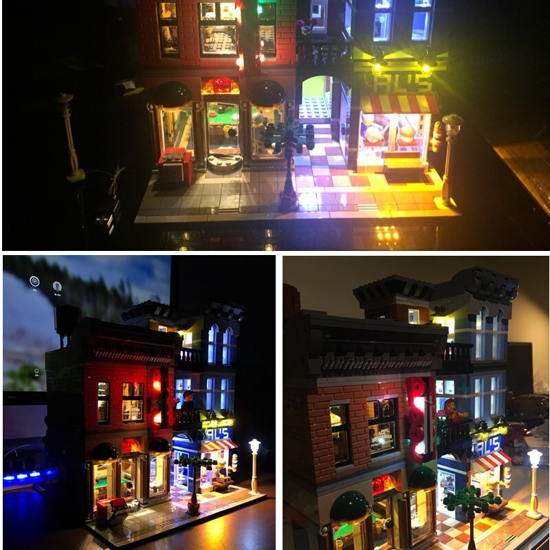Basic Version LED Light Kit For LEGO 10246 Compatible With LEPIN 15011 Detective's Office Building Blocks Model (Only Light Set)Kits
