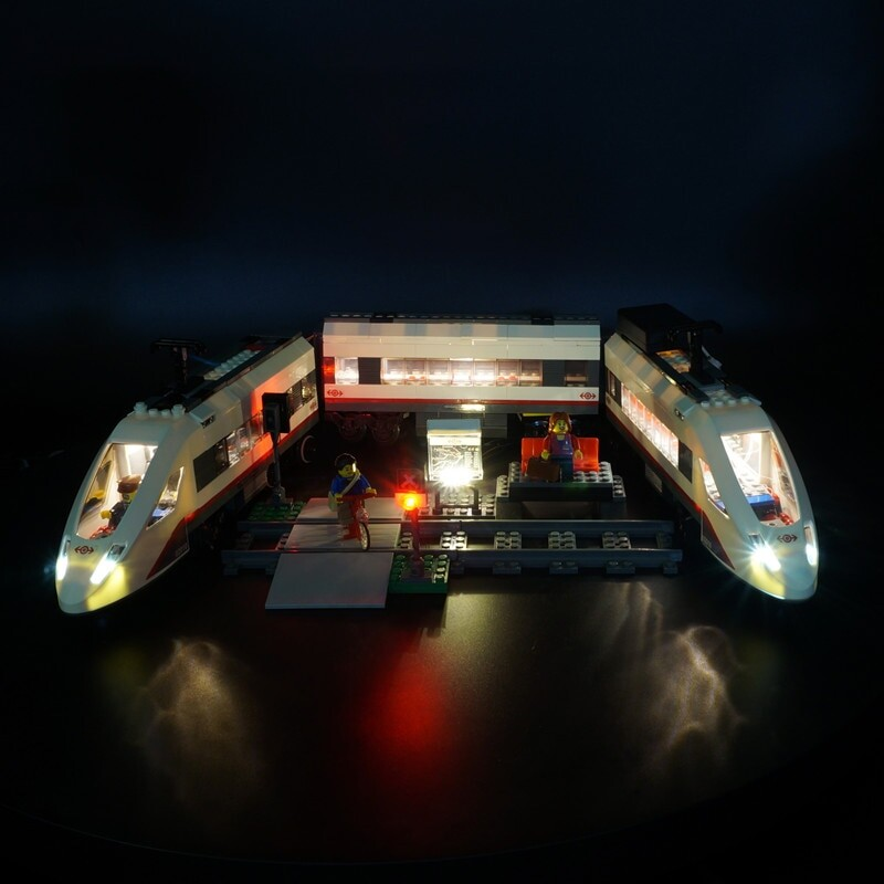 Basic Version LED Light Kit For LEGO 60051 Cities High-speed passenger Train Compatible With LEPIN 02010 (Only Light Set)Kits