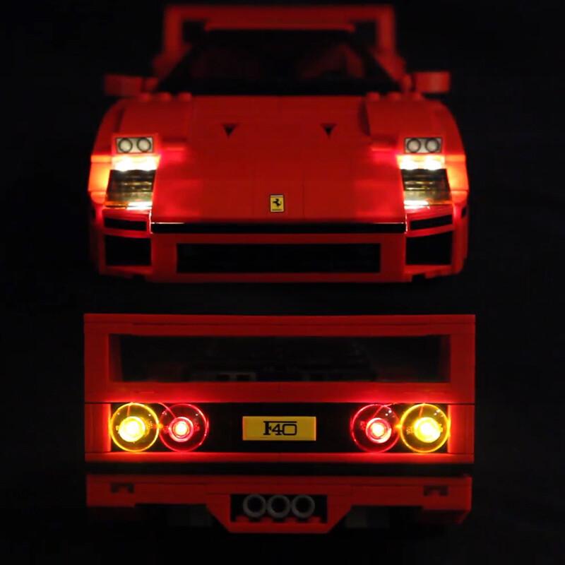 Luxury VersionLED Light Set For LEGO 10248 Ferrari F40 Compatible LEPIN 21004Kits
