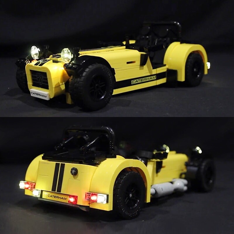 Luxury VersionLED Light Set For LEGO 21307 Caterham Seven 620R Compatible LEPIN 21008Kits