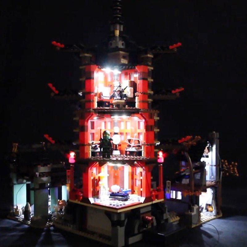 Luxury VersionLED Light Set For LEGO 70751 Temple of Airjitzu Compatible LEPIN 06022 (LED Light+Battery box)Kits