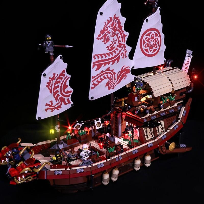 Luxury VersionLED Light Set For LEGO 70618 Destiny's Bounty Compatible LEPIN 06057 (LED Light)Kits