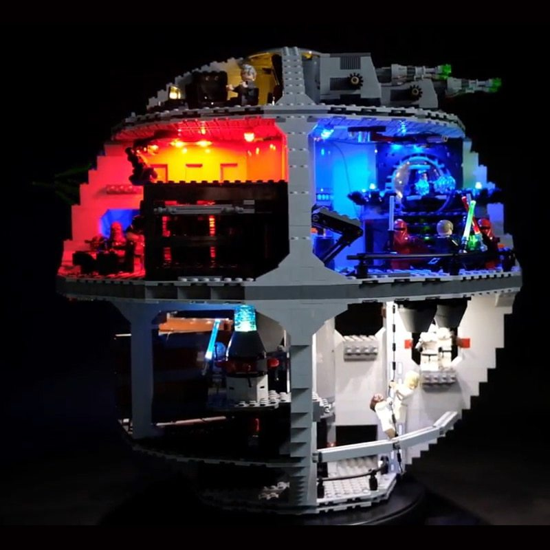 Luxury VersionLED Light Set For LEGO 75159 Death Star Compatible LEPIN 05063 (LED Light+Battery box)Kits