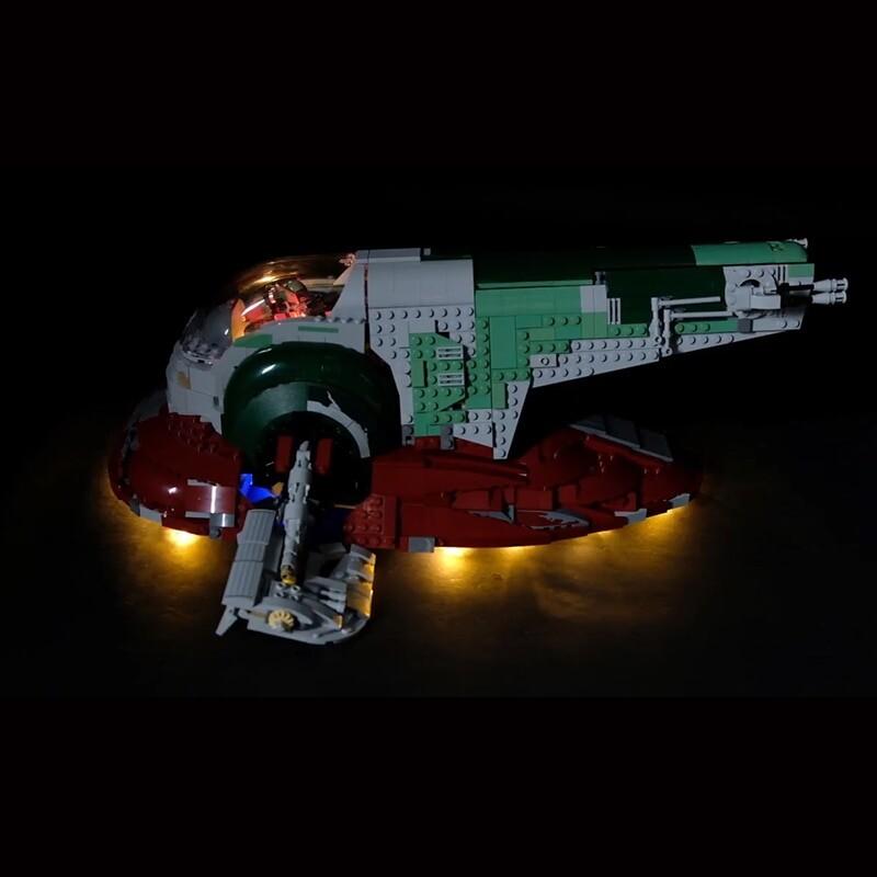 Luxury VersionLED Light Set For LEGO 75060 Slave I Compatible LEPIN 05037 (LED Light+Battery box)Kits
