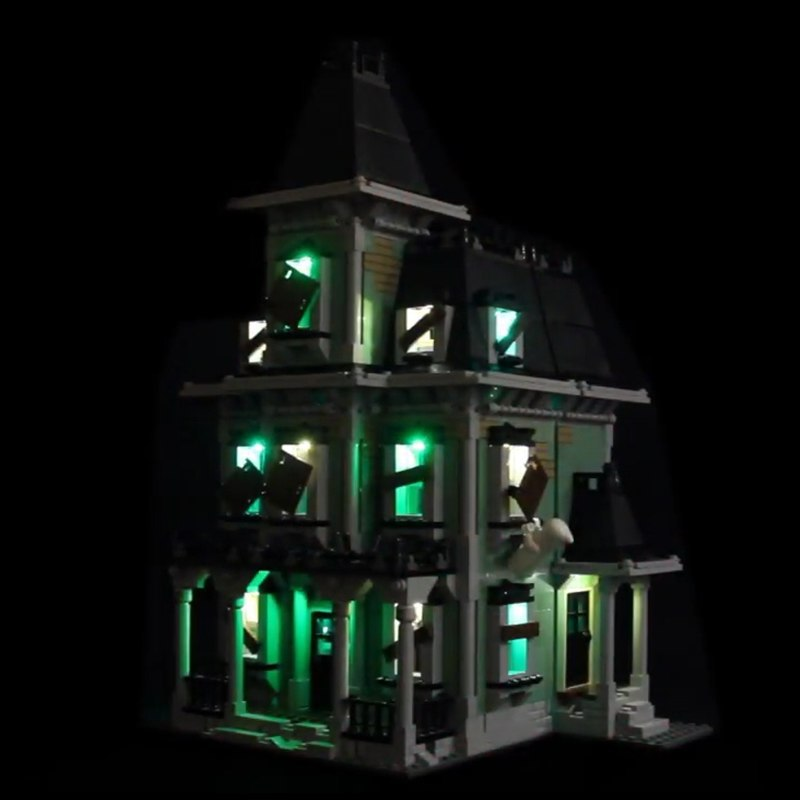 Luxury VersionLED Light Set For LEGO 10228 Haunted House Compatible LEPIN 16007 (LED Light+Battery box)Kits