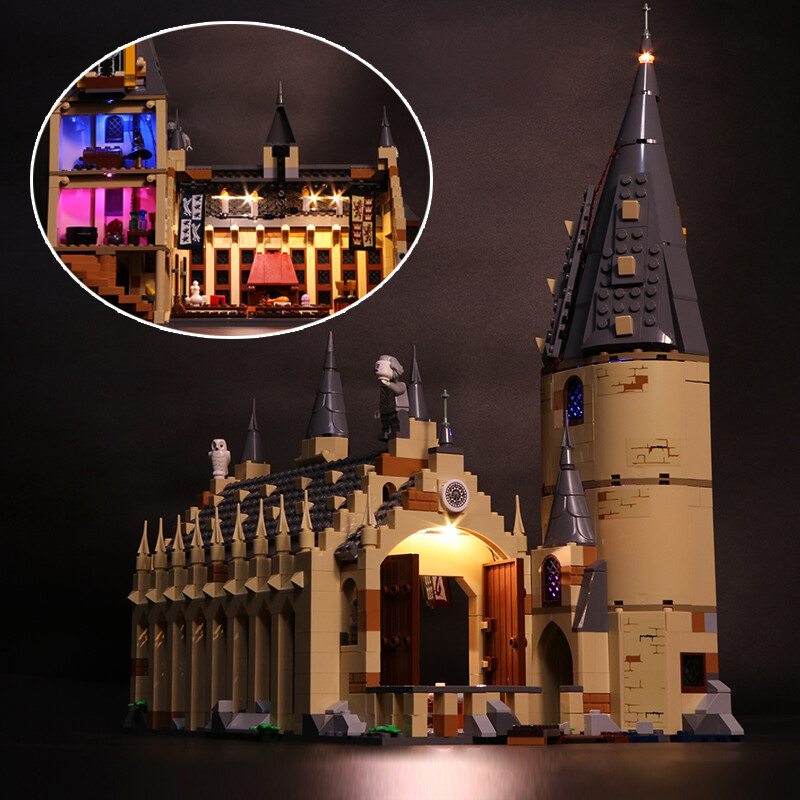 Luxury VersionLED Light Set For LEGO 75954 Hogwarts Great Hall Compatible LEPIN 16052 (LED Light)Kits