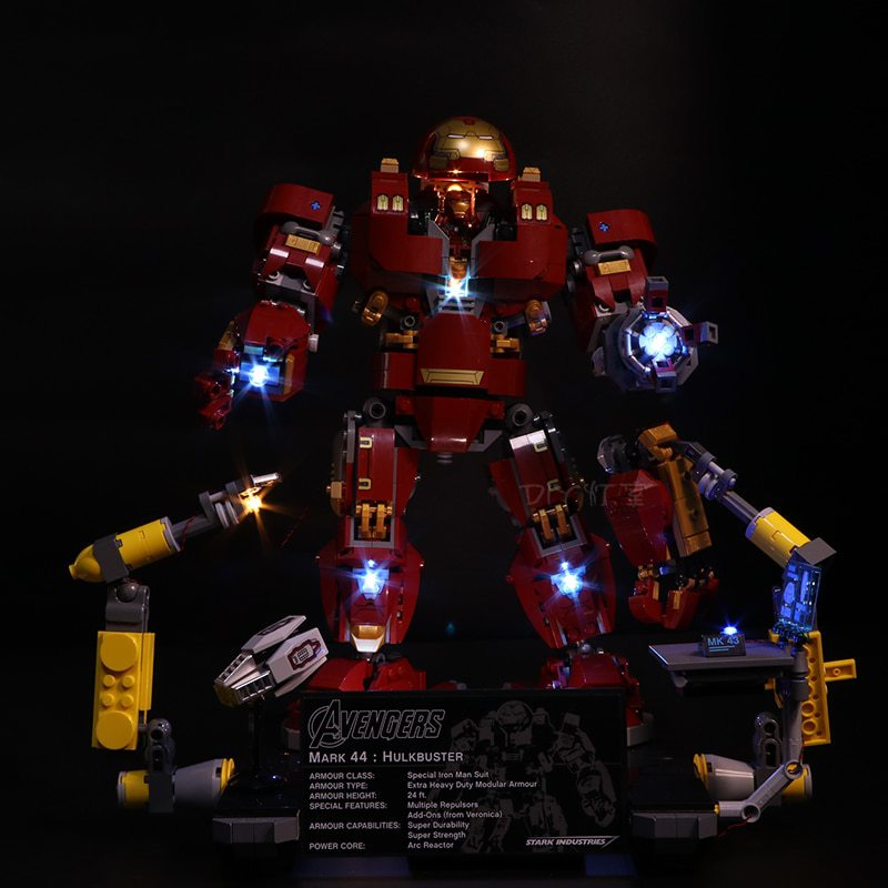 Luxury VersionLED Light Set For LEGO 76105 The Hulkbuster: Ultron Edition Compatible LEPIN 07101 (LED light+Battery box)Kits