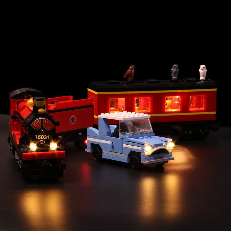 Luxury VersionLED Light Set For LEGO 4841 Harry Potter:Hogwarts Express Compatible LEPIN 16031 (LED light+Battery box)Kits