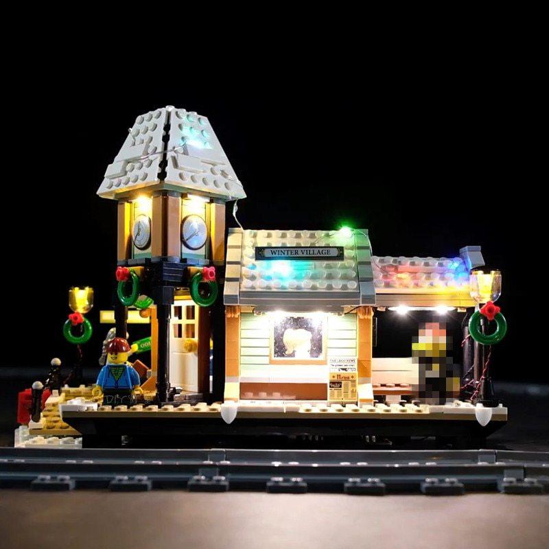 Luxury VersionLED Light Set For LEGO 10259 Winter Village Station Compatible LEPIN 36011 (LED Light)Kits