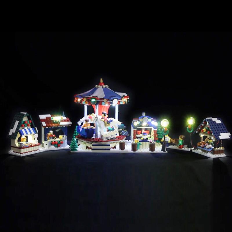 Luxury VersionLED Light Set For LEGO 10235 Winter Village Market Compatible LEPIN 36010 (LED Light+Battery box)Kits