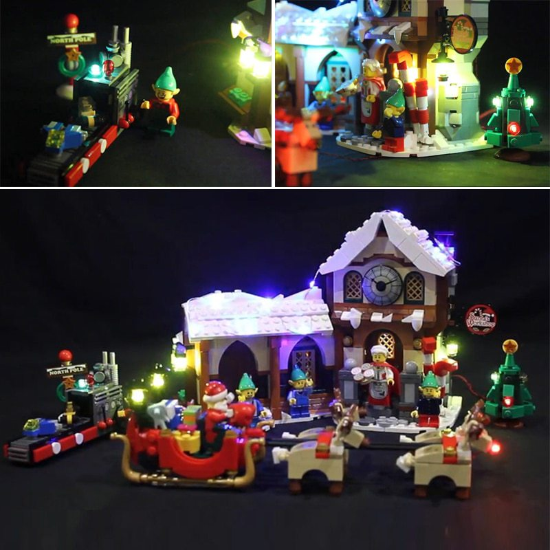 Luxury VersionLED Light Set For LEGO 10245 Santa's Workshop (LED Light+Battery box)Kits