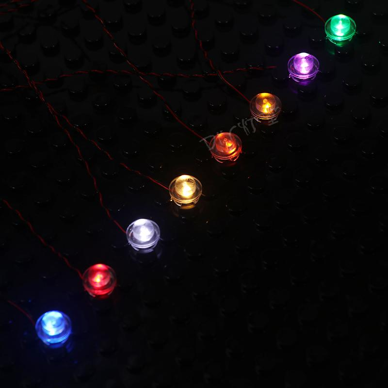 Luxury Version4 Packs Flashing LED Light Set For LEGO City Street/Creator House Single Lamp battery box USB DIY ToysKits