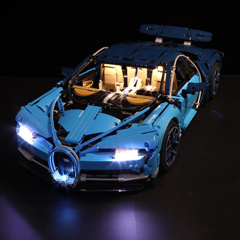 Luxury VersionLED Light Set For LEGO 42083 Bugatti Chiron Compatible LEPIN 20086 (No Original Box)Kits