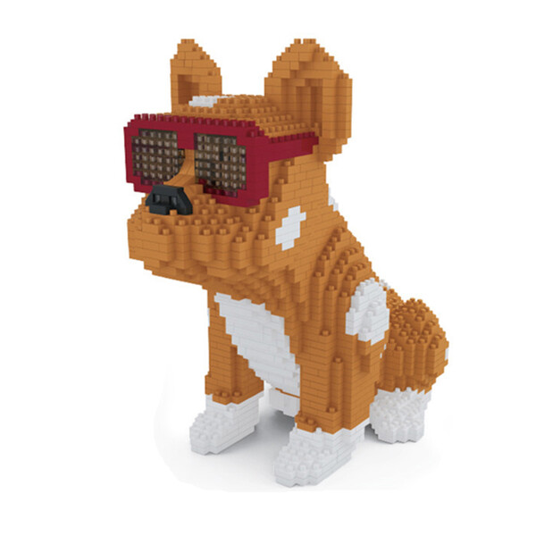 Lboyu 7058 Large Yellow Bulldog With Eyeglasses