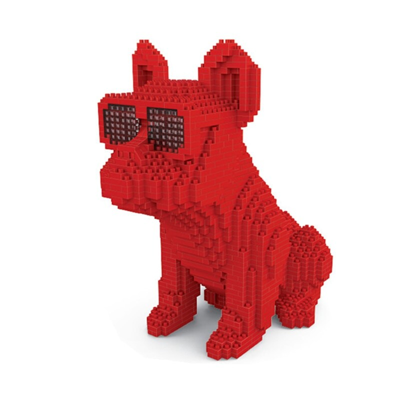 Lboyu 7057 Large Red Bulldog With Eyeglasses